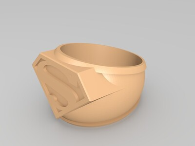 超人戒指-3d打印模型