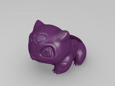 妙蛙种子花盆-3d打印模型