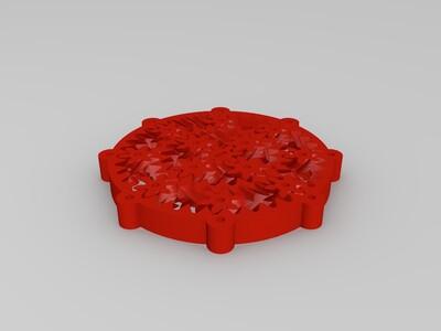 齿轮配合-3d打印模型