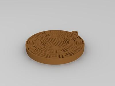 回子吊坠-3d打印模型
