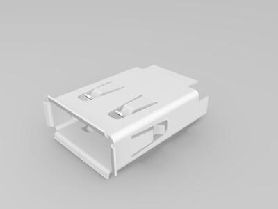 USB母头口-3d打印模型