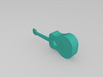 吉他-3d打印模型