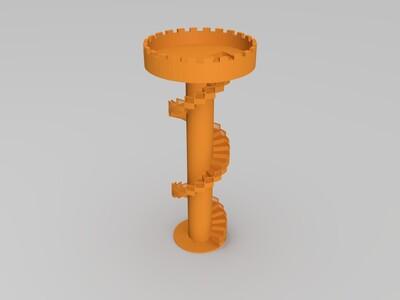 旋转楼梯观望台-3d打印模型