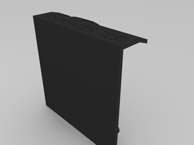 3D打印机性能测试模型-3d打印模型