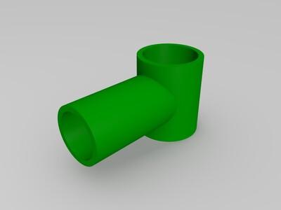 三通-3d打印模型