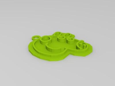 小猪佩奇钥匙扣-3d打印模型