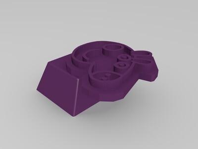小猪佩奇阳刻键帽-3d打印模型