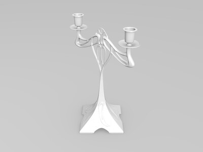 创意复古烛台-3d打印模型