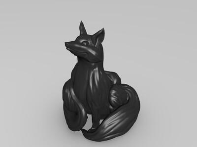 三尾妖狐-3d打印模型
