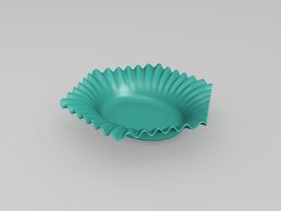 look高精度-方形花边碟子-3d打印模型