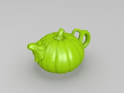 南瓜状的壶-3d打印模型