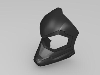 《蚁人》电影中的黄蜂女的头盔-3d打印模型