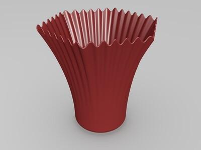 look高精度-方形花边杯2-3d打印模型