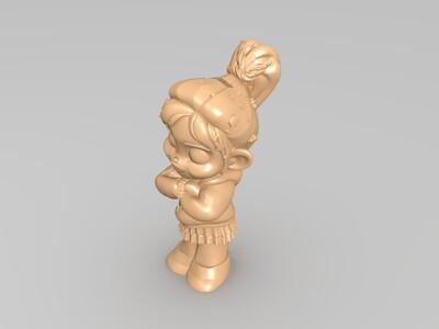 小女孩-3d打印模型