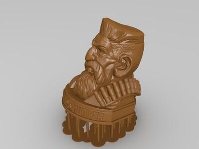 老人头-3d打印模型