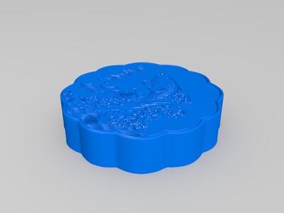 月饼--高精度鱼跃龙门-3d打印模型