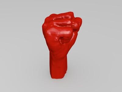拳头模型-3d打印模型
