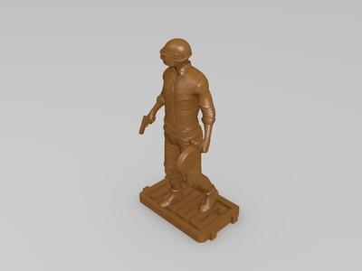 吃鸡人物-3d打印模型