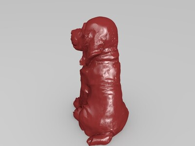 小狗雕像-3d打印模型