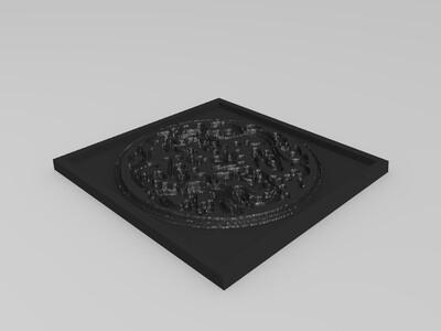 二龙戏珠 图腾-3d打印模型