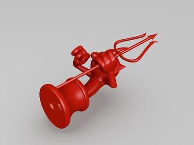 杯头魔鬼-3d打印模型