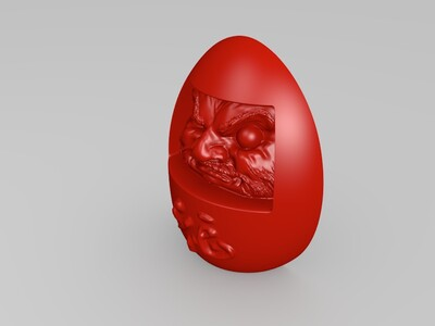 达摩娃娃 墙贴-3d打印模型