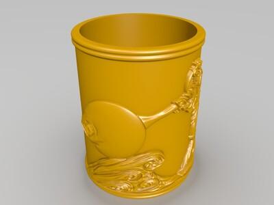 浮雕海贼王-路飞+万里阳光号-3d打印模型