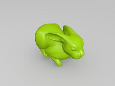 兔子-3d打印模型
