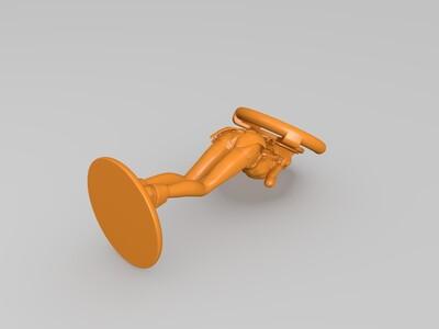 妹子手机支架-3d打印模型