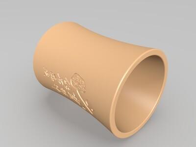久其笔筒-3d打印模型