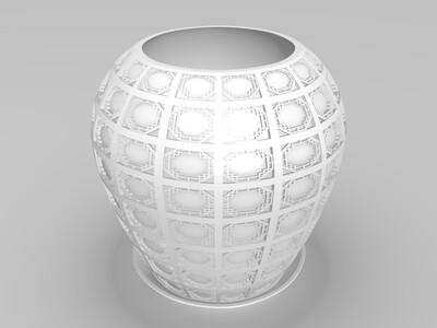 中式花盆-3d打印模型