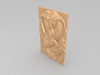 經典玉雕系列-蛇王 1-3d打印模型