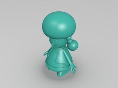 女孩 -3d打印模型