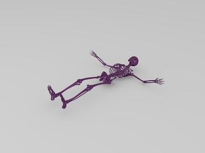 人体骨架-3d打印模型