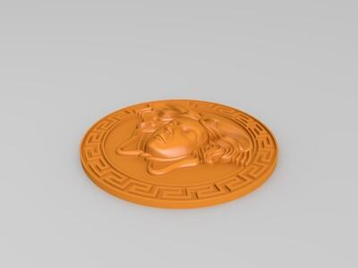 美杜莎头像-3d打印模型