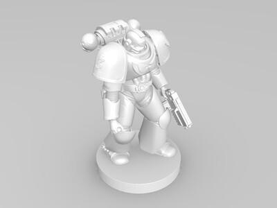战锤人族士兵-3d打印模型