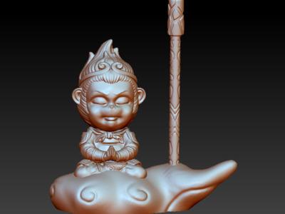 孙悟空-静禅(完美修复版)-3d打印模型