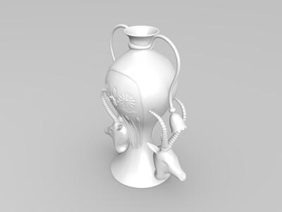 复古花瓶-3d打印模型