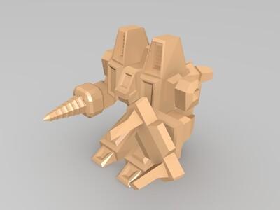 星际争霸人族SCV(农民)-3d打印模型