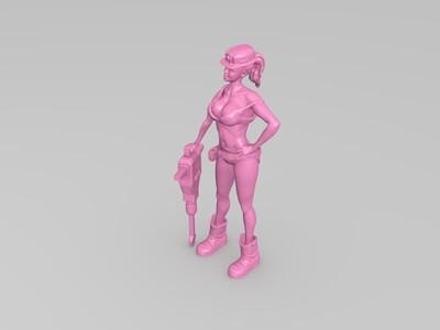 女工人-3d打印模型