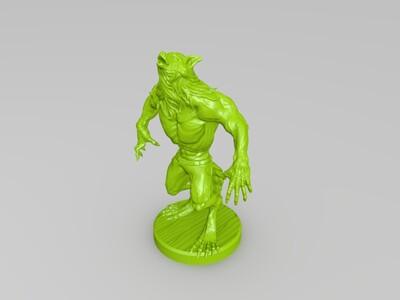 狼人-3d打印模型