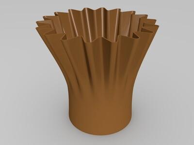 花边花盆-3d打印模型