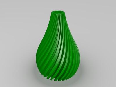908高精度花瓶1-80度-3d打印模型