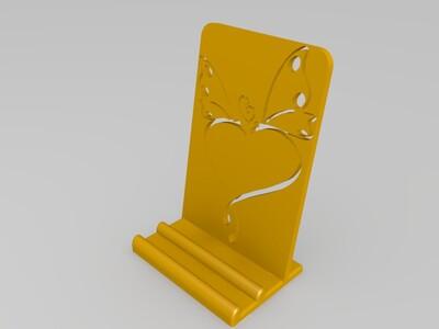 简单手机支架-3d打印模型