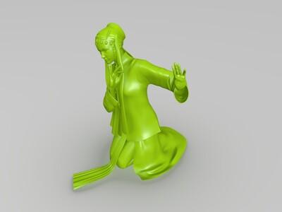 京剧演员2-3d打印模型