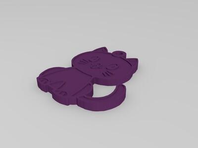 小猫吊坠-3d打印模型