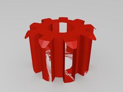 微型齿轮组-3d打印模型