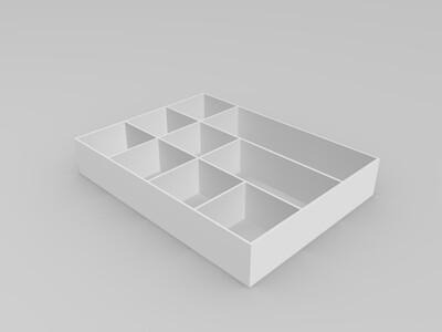 大号万能工具盒收纳打磨打印颜料笔箱-3d打印模型