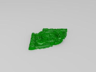 扇形的福字挂件-3d打印模型