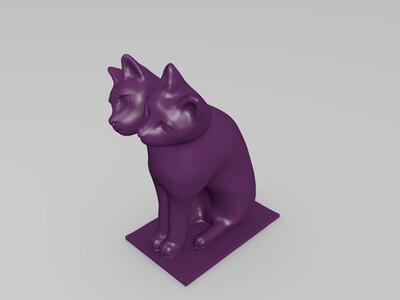 NG 双头猫-3d打印模型